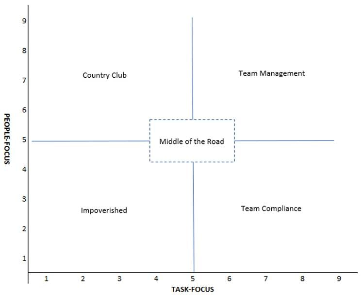 Blake and Mouton Managerial Grid Example